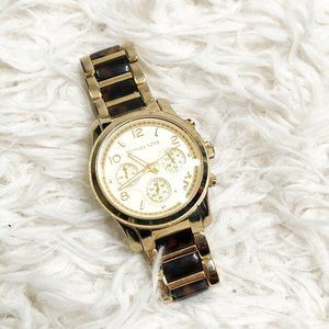 MICHAEL KORS gold Tortoise Watch